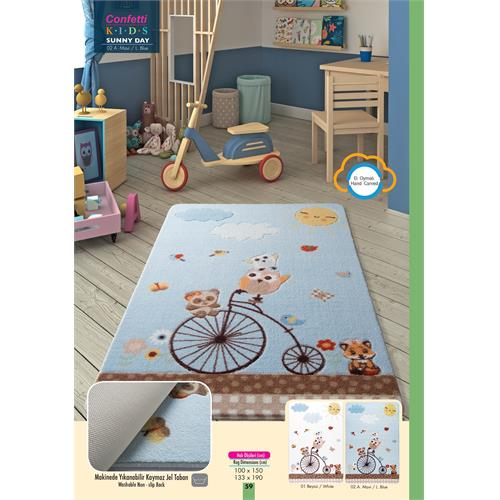 Sunny Day Blue Kids Carpet