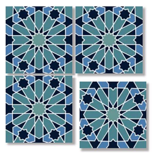 SEYHAN Blue 33X33 Patchwork Glazed Porcelain Tile