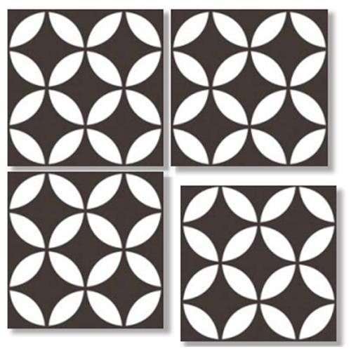 OCEAN Black 33X33 Patchwork Glazed Porcelain Tile