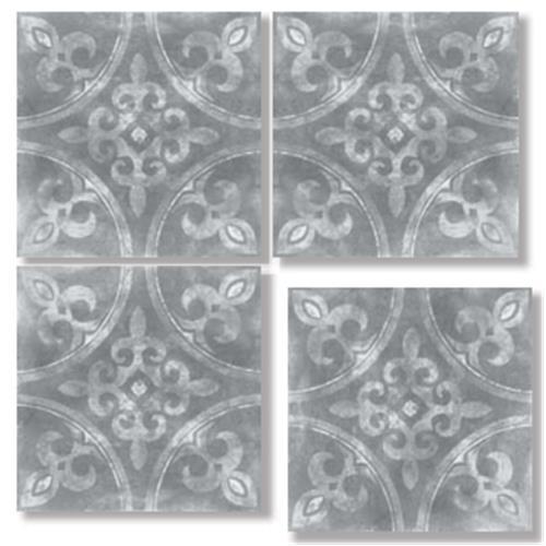 HARVEY Anthracite 33X33 Patchwork Glazed Porcelain Tile