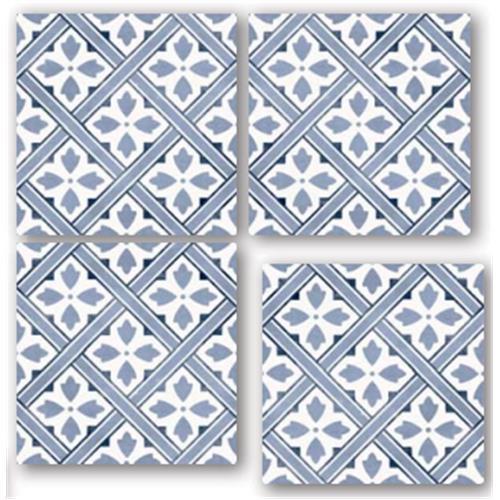 CORTLAND Midnight 33X33 Patchwork Glazed Porcelain Tile