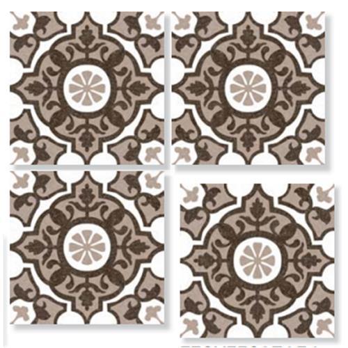 SEASONS Summer Taupe 33X33 Patchwork Glazed Porcelain Tile