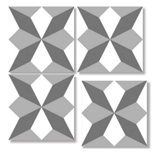 DIAMOND GRAY 33X33 Patchwork Glazed Porcelain Tile