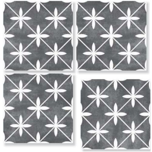 LIVERPOOL Anthracite 33X33 Patchwork Glazed Porcelain Tile