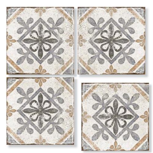 TROAS Dante Brown 33X33 Patchwork Glazed Porcelain Tile