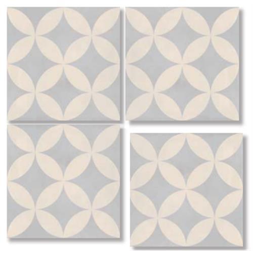 FRESCO Flower Aqua 33X33 Patchwork Glazed Porcelain Tile