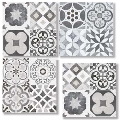 HALIKARNAS GRAY MIX 33X33 Patchwork Glazed Porcelain Tile