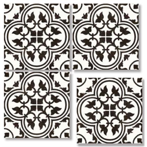 LAVAL BLACK 33X33 Patchwork Glazed Porcelain Tile