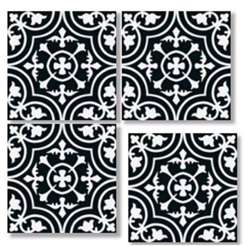 VINTAGE Nero 33X33 Patchwork Glazed Porcelain Tile