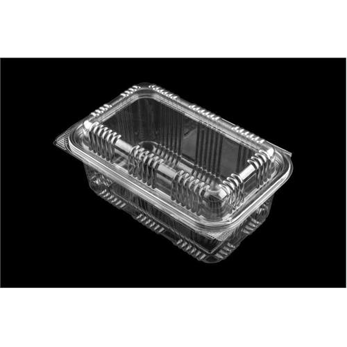 1000 cc Rectangular Dome Lid Hinged Lid Food Plastic Container
