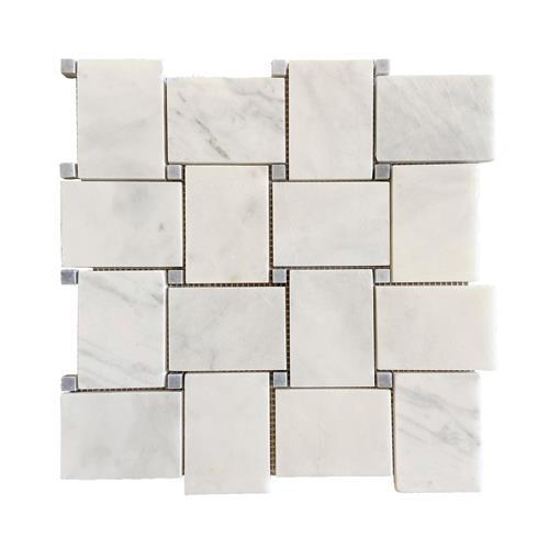 Big Basketweave Carrara Extra Honed Mosaic