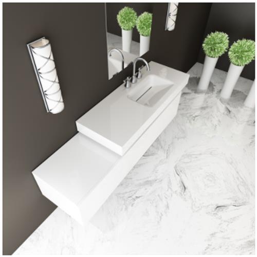 Kasandra Sink with Counter - Solid Bathroom Sinks