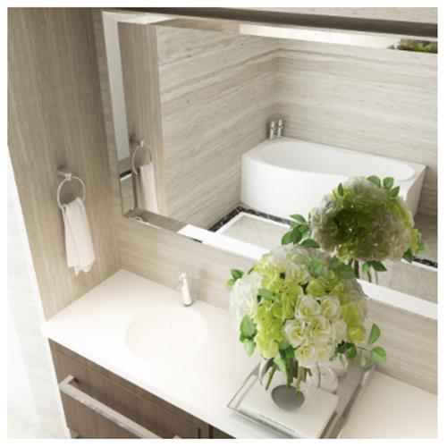Hestia Sink with Counter - Solid Bathroom Sinks