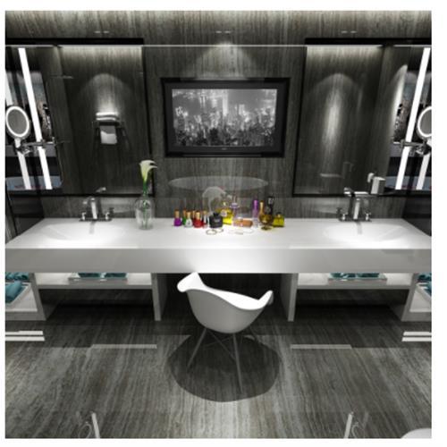 Zeus Sink with Counter - Solid Bathroom Sinks