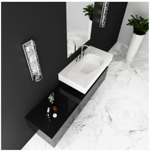 Ikaros Sink with Counter - Solid Bathroom Sinks