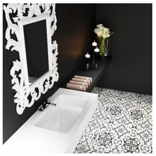 Demeter Sink with Counter - Solid Bathroom Sinks