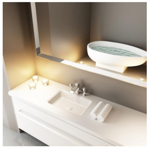 Hektor Sink with Counter - Solid Bathroom Sinks