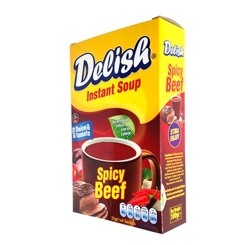 Spicy Beef Instant Soup