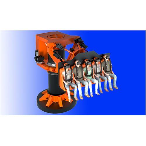 Twister Unlimited: 3 - 4 Seats Suspended Type 6dof 360/360 Rotation Platform