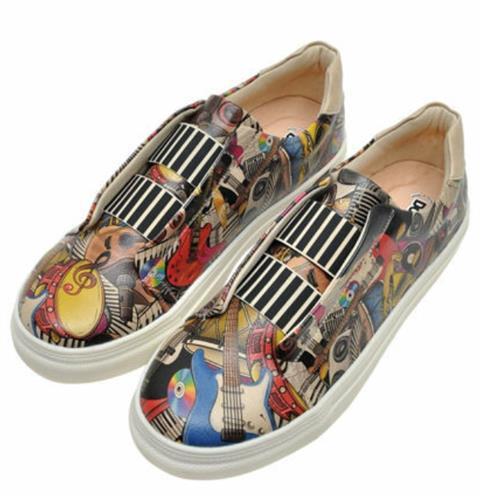 Music Themes Men Sneaker Shoes