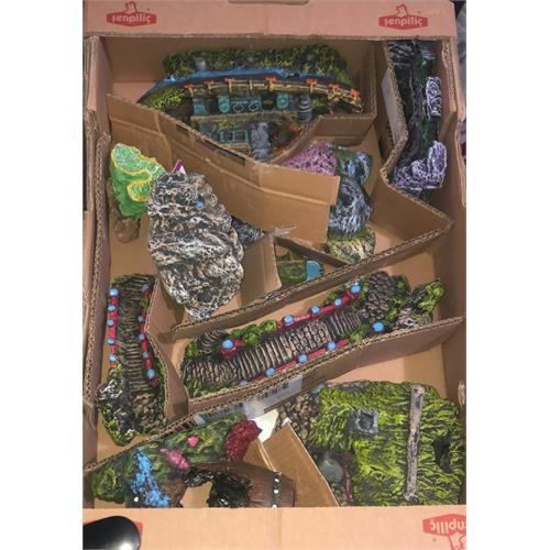 Hand Made Aquarium Decor Set 10 Pcs. - Aquarium Accessory
