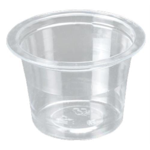 Ø45 20ml Transparent Pet Plastic Sauce Container